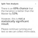 Detailed analysis in the sidebar of your Split Test dashboard