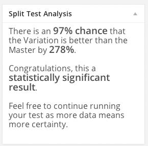 Split Test Analysis